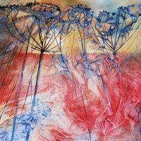 Light in a cobweb of stems